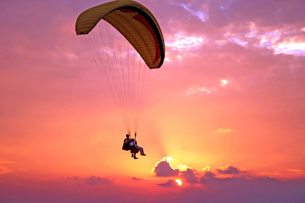 parapente biplace vol sunset