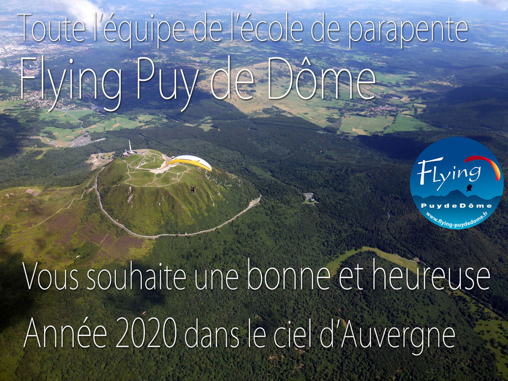 voeux 2020 Flying Puy de Dome